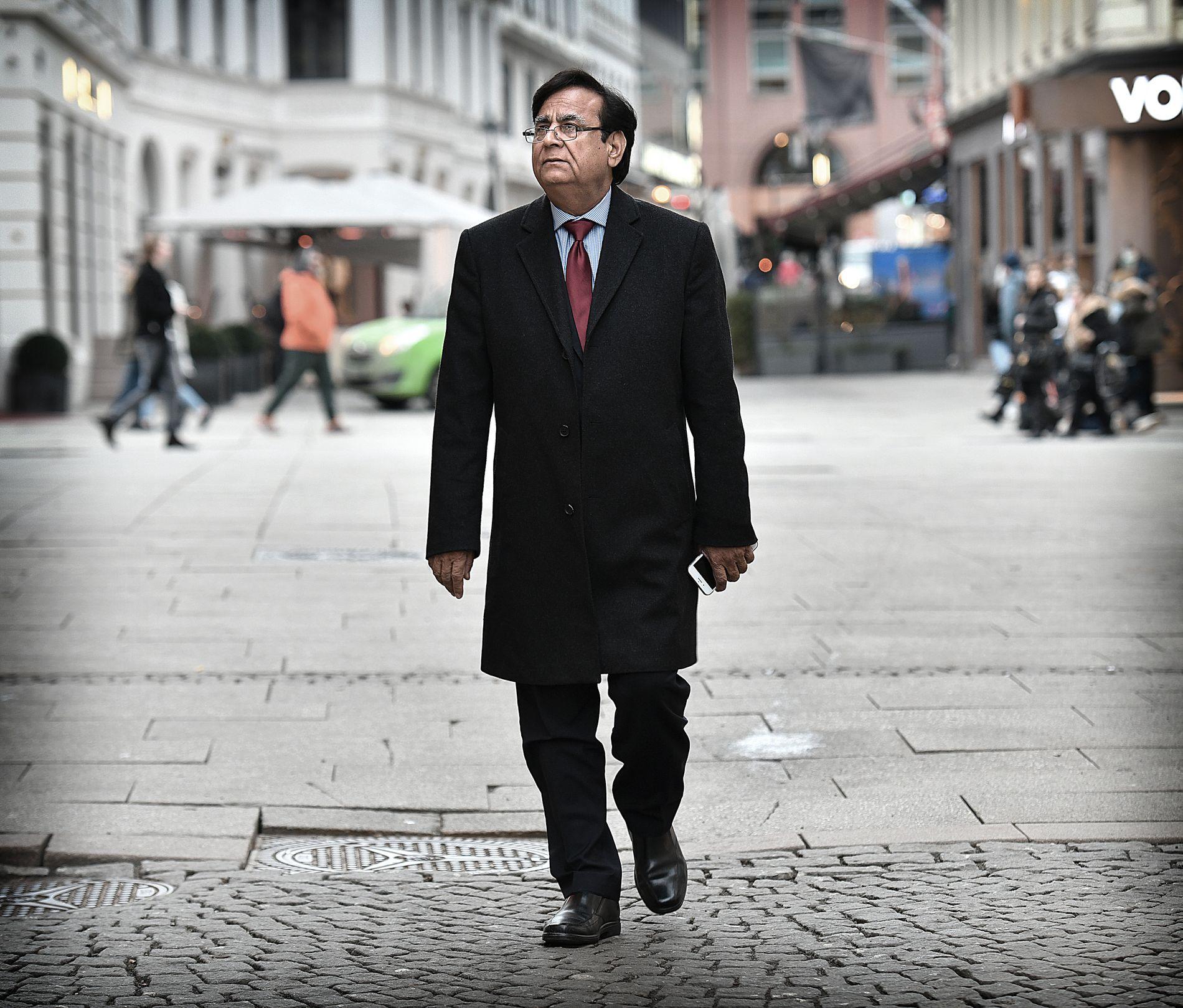 PÅ OSLO-BESØK: Den pakistanske advokaten Saif-ul Mulook (63) besøker Oslo etter invitasjon fra misjons- og menneskerettighetsorganisasjonen Stefanusalliansen.