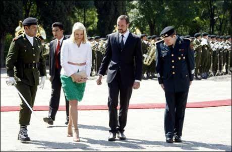 Kronprins Haakon og kronprinsesse Mette-Marit under det offisielle besøket i Mexico. Foto: Scanpix