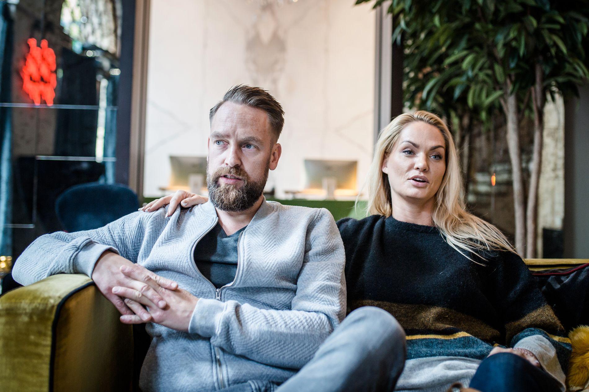 SLÅR TILBAKE: Ørjan Burøe og kona Marna Haugen har vært i hardt vær den siste tiden.
