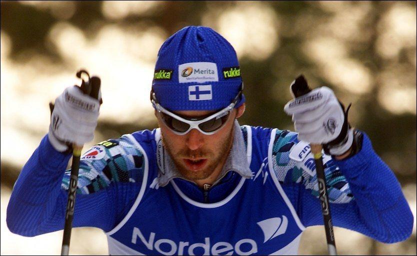 BLE 41 ÅR: Mika Myllylä ble i dag funnet død i sitt eget hjem. Her er den finske langrennsløperen i VM i Lahti i 2001. Foto: Lise Åserud / Scanpix