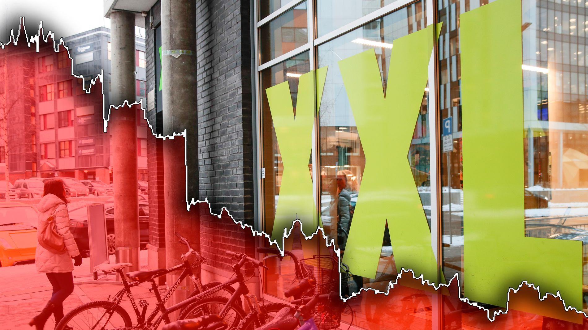 RAS: Aksjekursen til XXL har falt betydelig fra i overkant av 100 kroner per aksje i 2016 til rundt 22 kroner i september 2019.