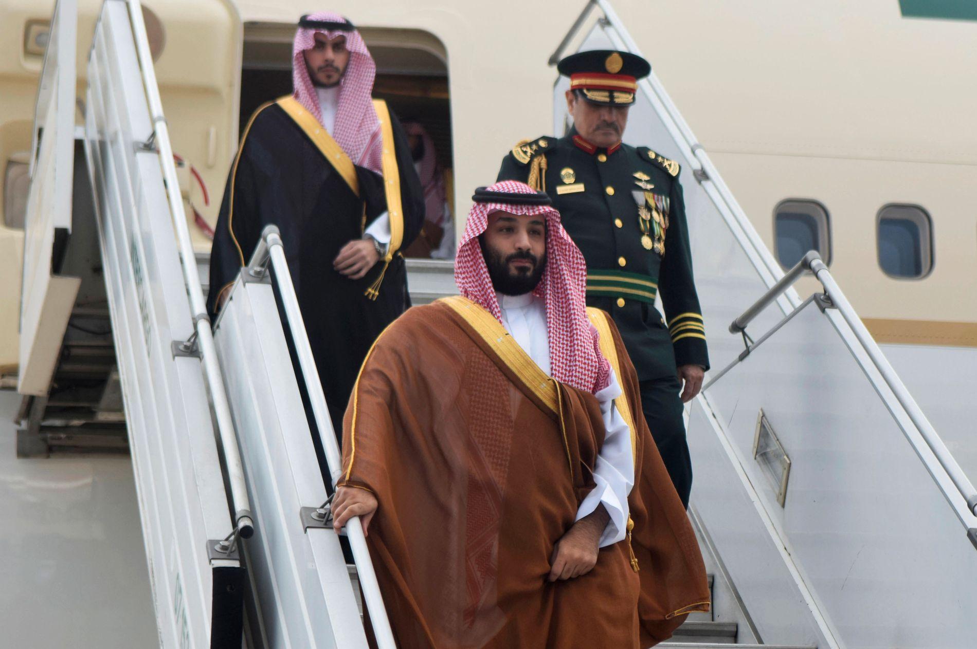 PÅ PLASS I ARGENTINA: Saudi-Arabias omstridte kronprins, Mohammed bin Salman, ankommer Buenos Aires for å delta på toppmøtet i G20.