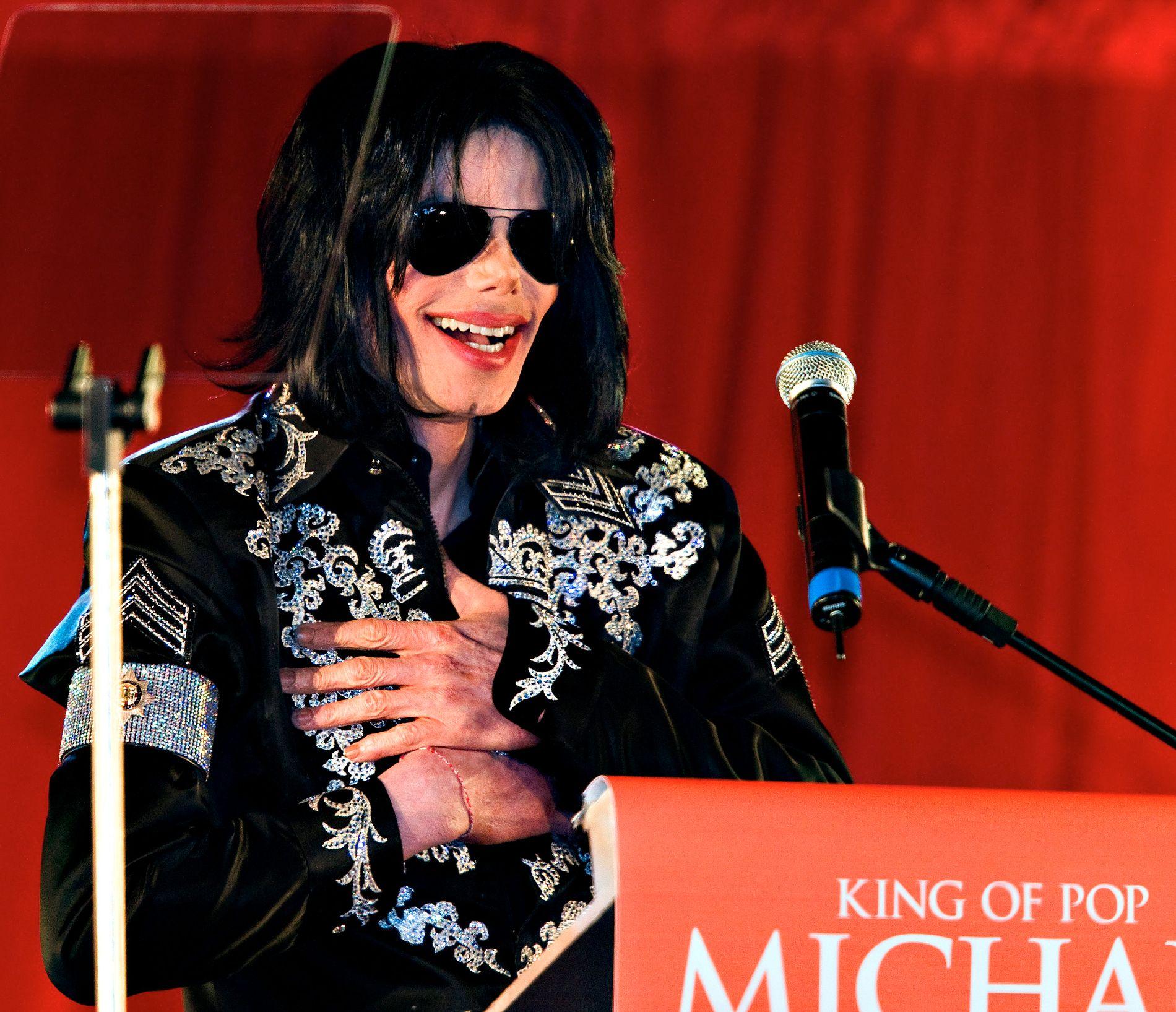 MOT SLUTTEN: Michael Jackson på pressekonferanse i London, knappe fire måneder før han døde.