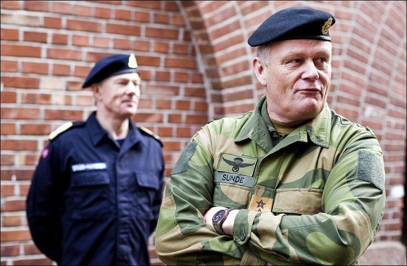 PRESSET: Forsvarssjef Harald Sunde har fått hard medfart etter at han ga sine fagmilitære råd til regjeringen. Foto: ALF ØYSTEIN STØTVIG