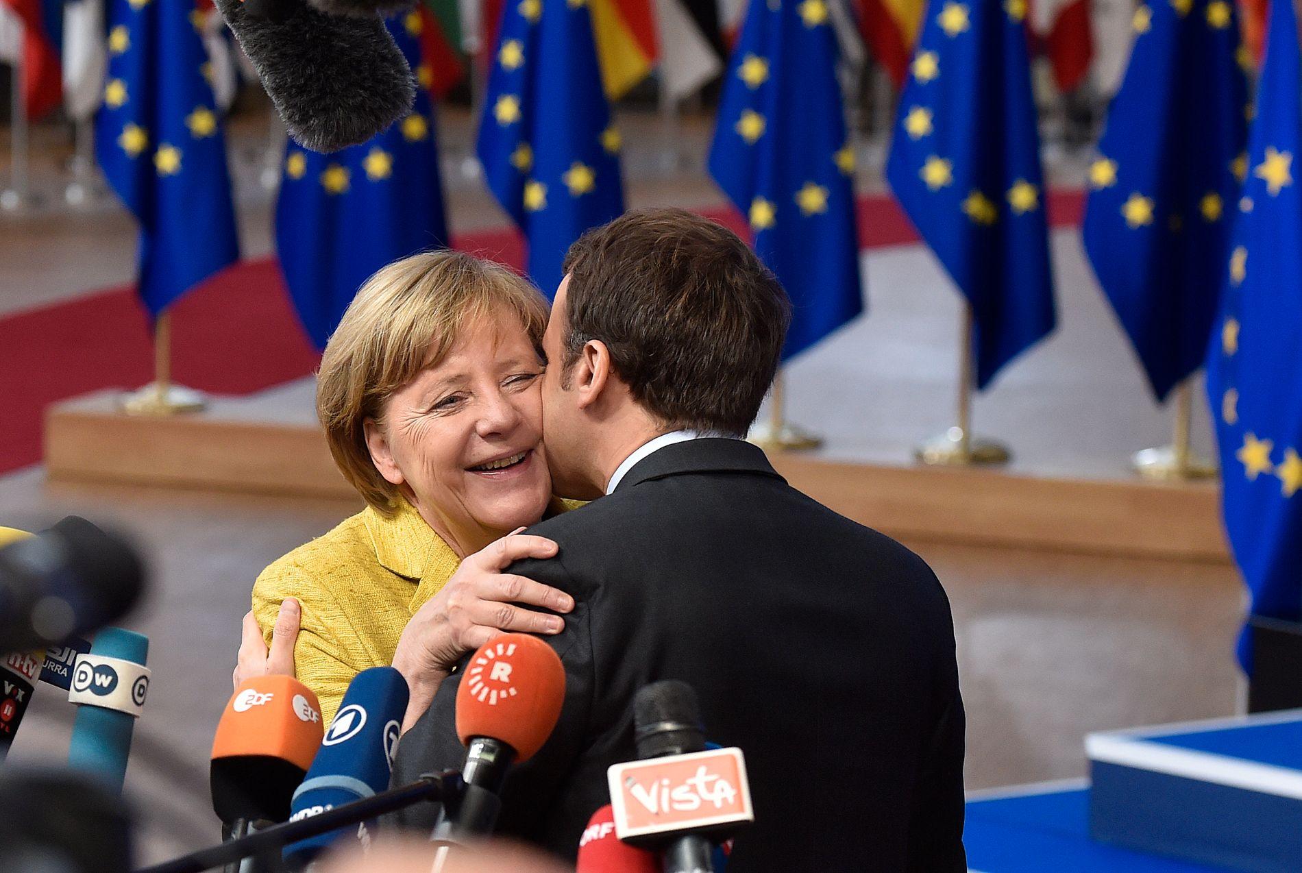 EU: – Aldri har argumentene for fullt medlemskap vært så mange og rasjonelle som nå. Spørsmålet er hvorfor vi ikke ser dem, skriver kronikkforfatteren. Bildet: Frankrikes president Emmanuel Macron og Tysklands kansler Angela Merkel i Brussel i fjor.