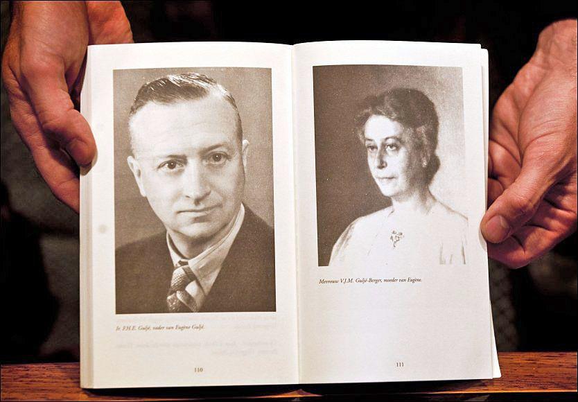DREPTE FELIX: Et portrett av Felix Gulje og hans kone. Felix Gulje ble drept i 1946. 65 år etter tilstår 96-år gamle Atie Visser drapet. Foto: EPA/PHIL NIJHUIS