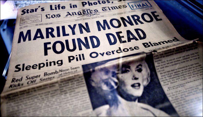 99e81dab26f9 TRIST NYHET  For mange var det ubegripelig at Marilyn Monroe skulle ha  begått selvmord. Søndag er det 50 år siden hun døde. Foto  Thomas Nilsson