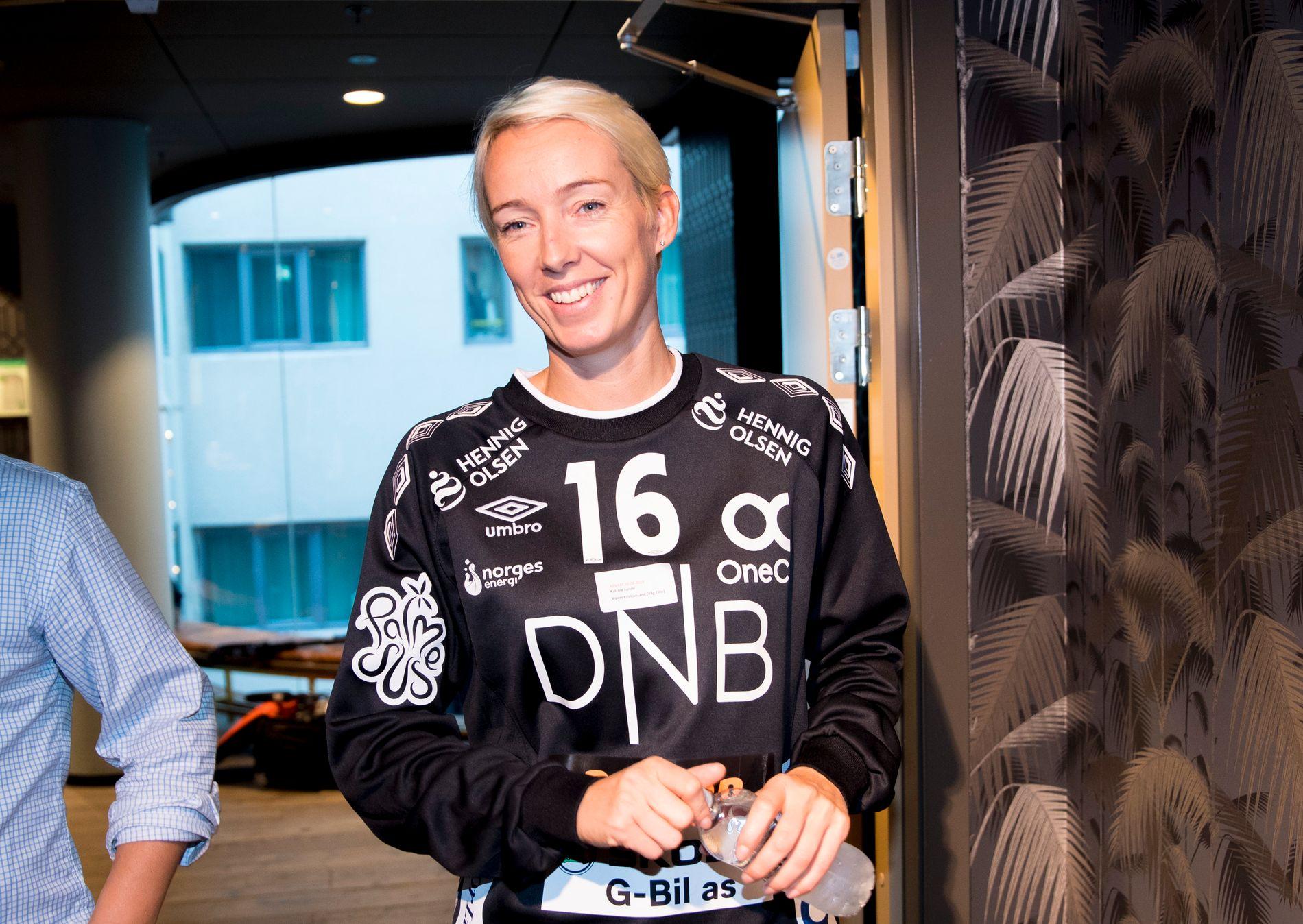 HELTEN: Katrine Lunde hadde en redningsprosent på 50 prosent onsdag kveld. Her fotografert ved en annen ledning tidligere i år.