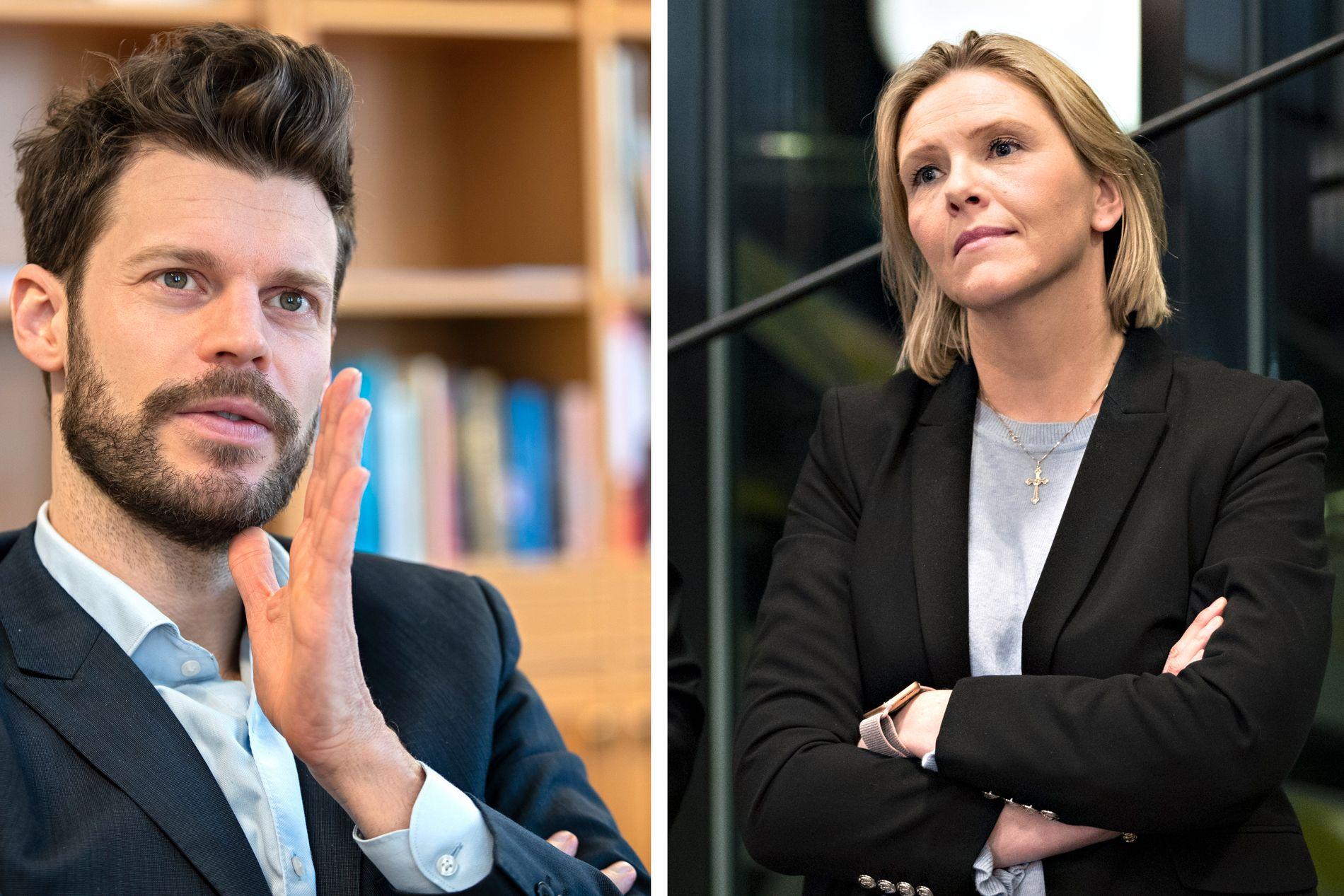 IN RED CORNER: Rødt-leder Bjørnar Moxnes skal tale i Drammen 1. mai. Det skal også Frps nestleder, Sylvi Listhaug.