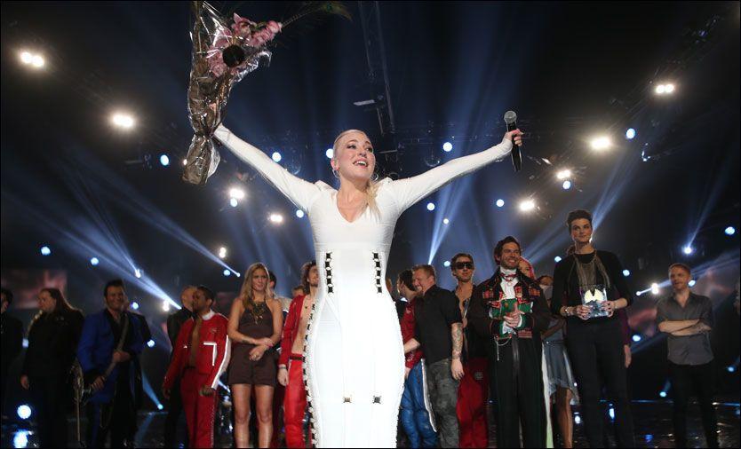 SUVEREN: Margaret Berger vant finalen med 102.000 stemmer. Foto: MATTIS SANDBLAD