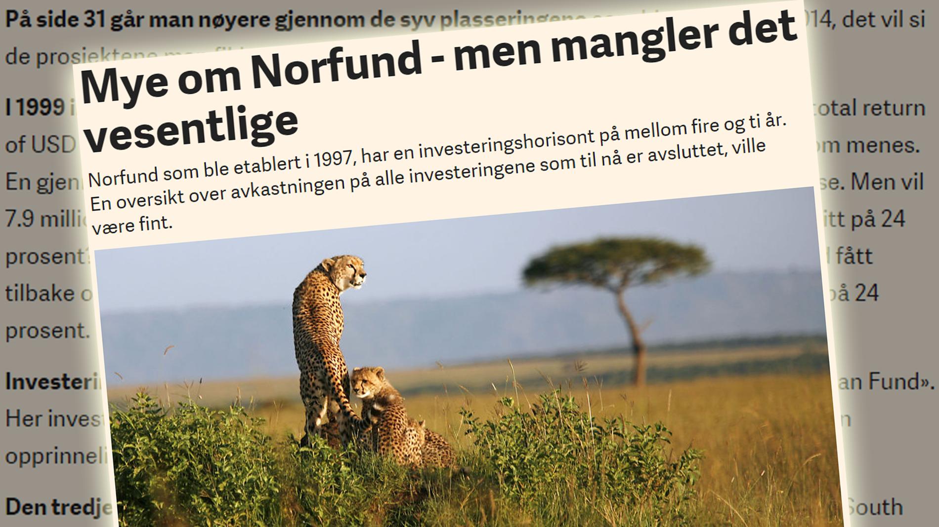 MANGLER? Arne Jon Isachsen etterlyste en oversikt over avkastningen på Norfunds investeringer.