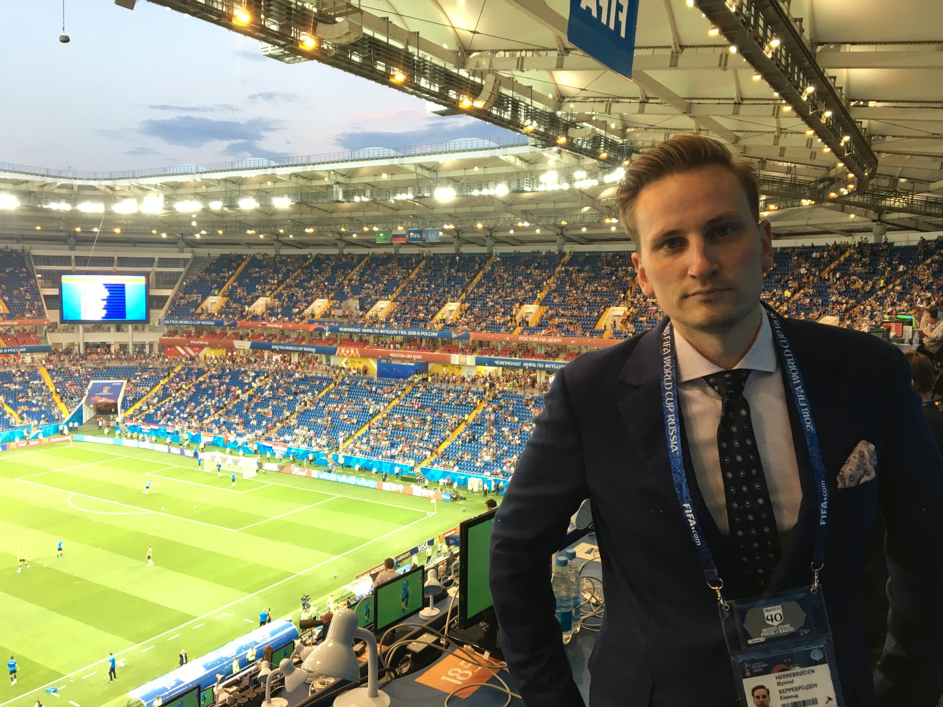 I ROSTOV: VG-journalist Øyvind Herrebrøden følger fotball-VM i Russland.
