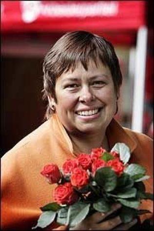NEDTUR: Rita Ottervik (Ap) får en kalddusj fra velgerne i dagens måling, men vil høyst sannsynlig fortsette som ordfører i Trondheim. Foto: Scanpix.