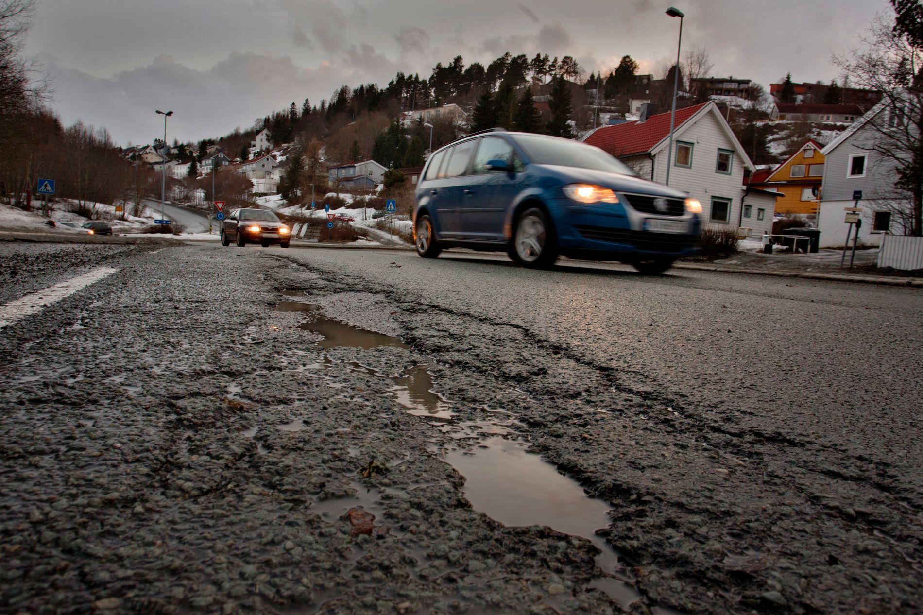 FÆRRE KJØRER: Trondheim har redusert biltrafikken. Her fra Sluppen i Trondheim.