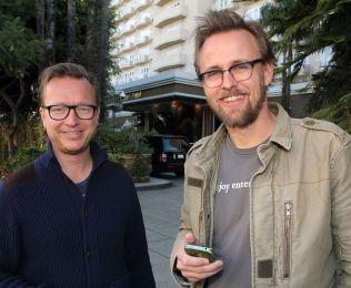 Espen Sandberg (t.v.) og Joachim Rønning før Oscar-udelingen i fjor, da de var nominerte i klassen for beste utenlandske film med «Kon Tiki».