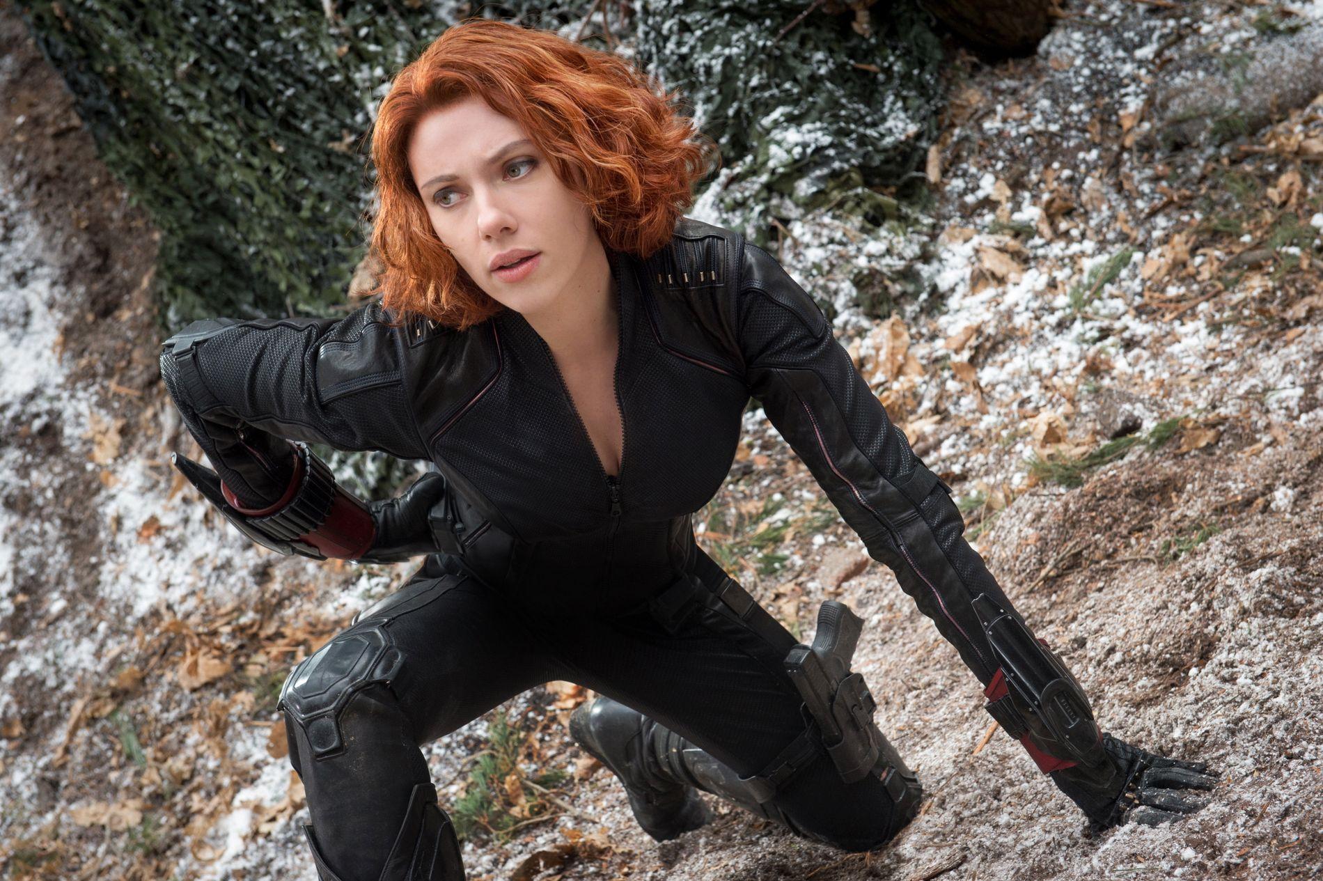 KJENT KARAKTER: Scarlett Johansson i rollen som Natasha Romanoff, Black Widow, i «Avengers: Age of Ultron» fra 2015.