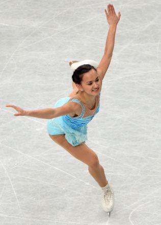 22. PLASS I VM: Anne Line Gjersem ble nummer 22 i VM etter OL. Her under kortprogrammet i mesterskapet i Japan i mars.