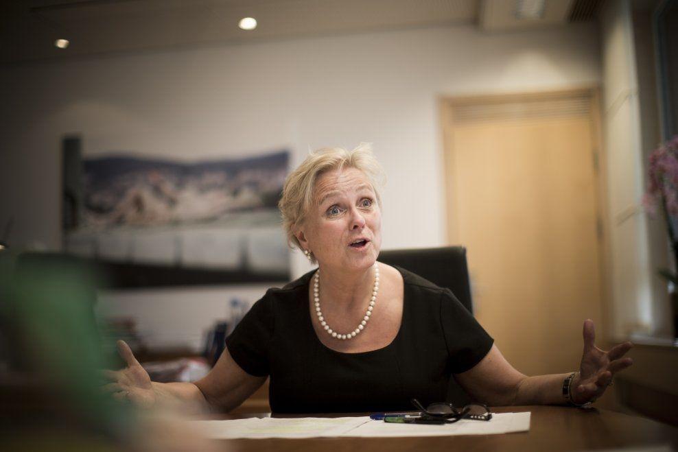 ARGUMENTERER FOR JA: Kulturminister Thorhild Widvey (H) har flere argumenter for enn mot OL i Oslo i 2022. VG intervjuet henne på statsrådens kontor torsdag ettermiddag.
