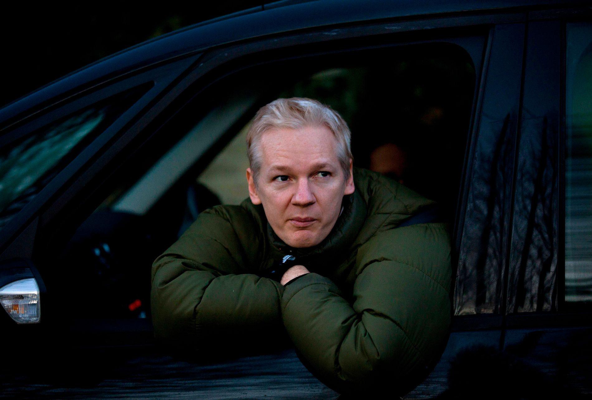 BLIR ECUADORIANER: Julian Assange, her i London i fjor.