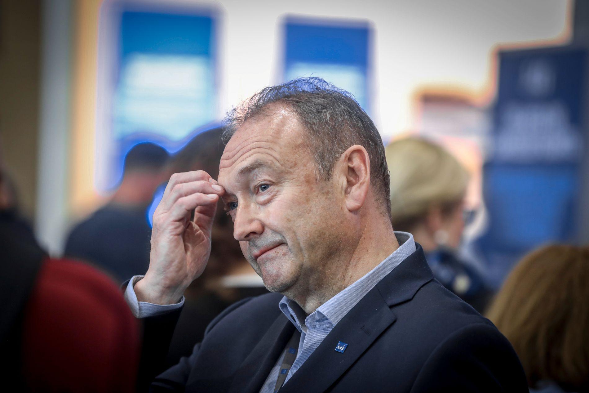 PÅ BAKKEN: Kommunikasjonssjef i SAS Knut Morten Johansen.