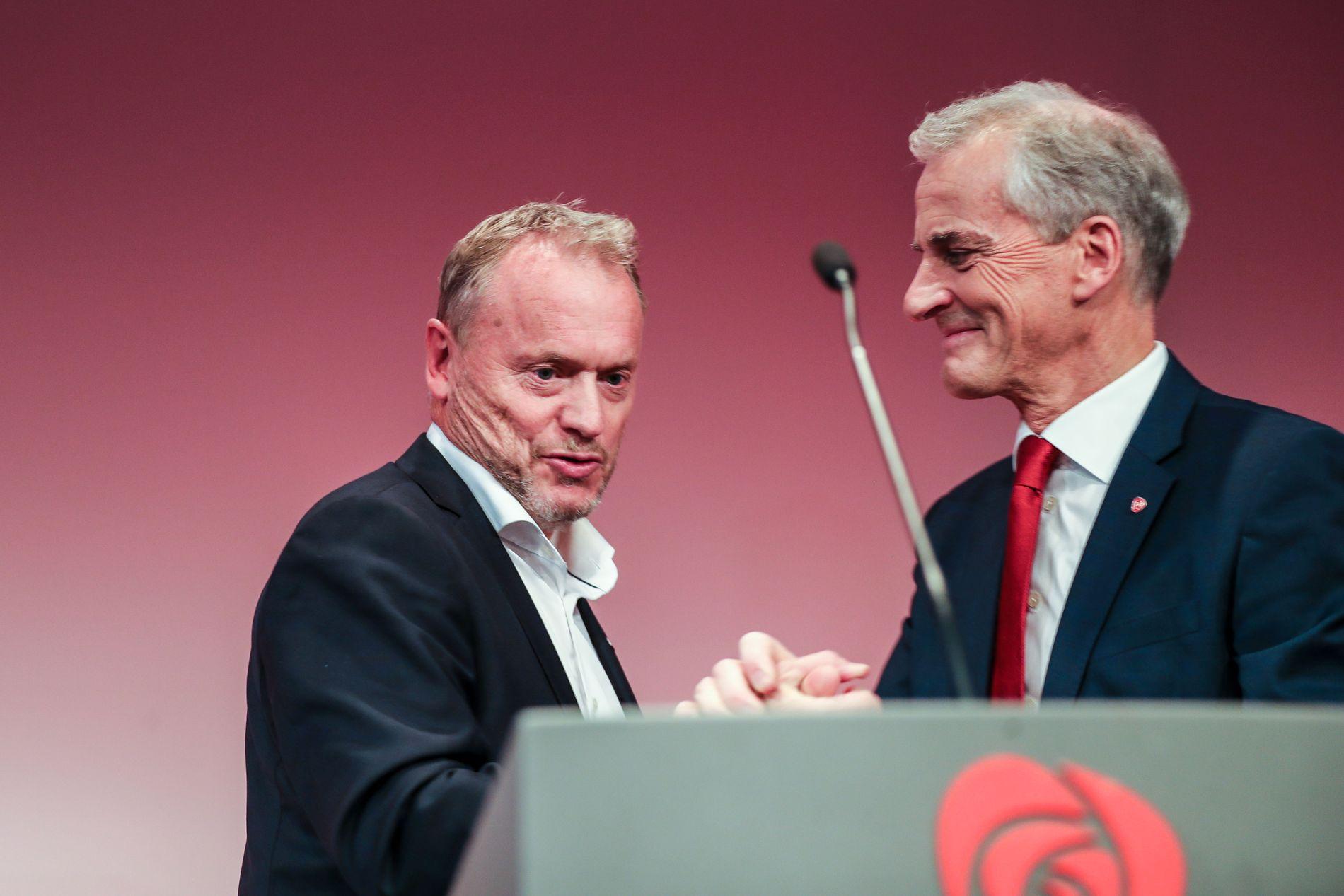 KRISEVALG: Byrådsleder i Oslo og Ap-leder Jonas Gahr Støre på partiets valgvake i Oslo.