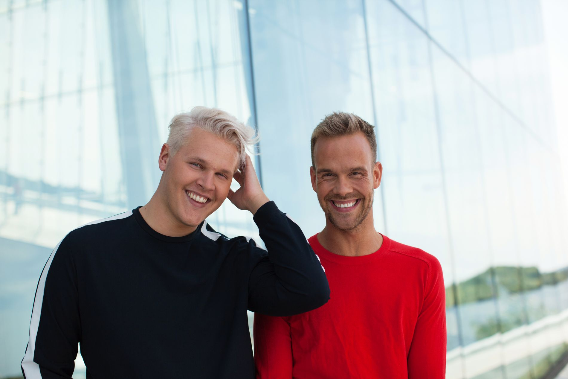 SPENTE: Vegard Harm og Morten Hegseth.