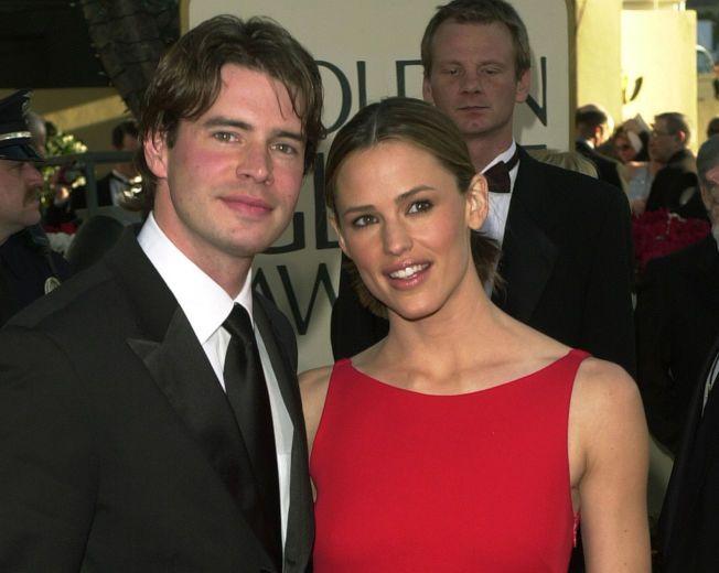 EKSMANN: Jennifer Garner med daværende ektemann Scott Foley under Golden Globe-utdelingen i 2002. Året etter gikk de fra hverandre.