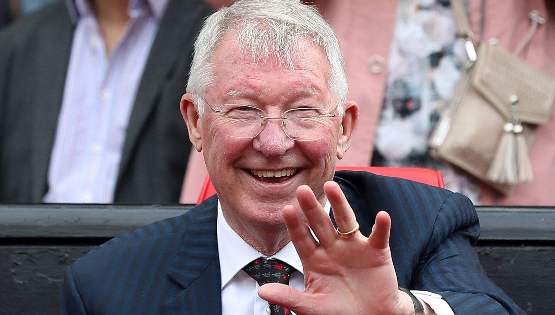 BLID: Alex Ferguson på legendekampen mellom Manchester United og Bayern München i slutten av mai.