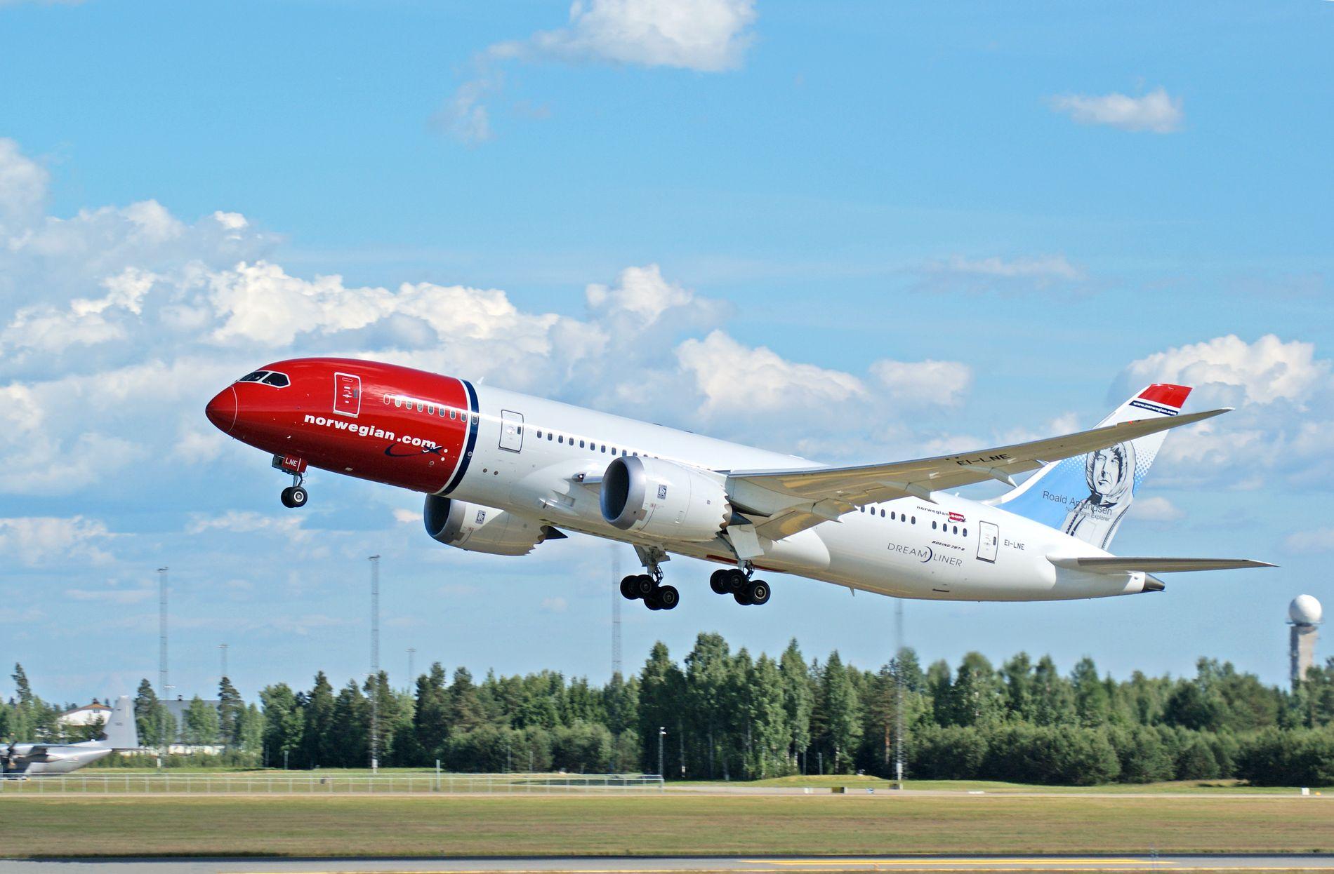 MOTORTRØBBEL: Et Norwegian-fly fra Roma måtte nødlande lørdag ettermiddag. Bildet her er tatt på Oslo Lufthavn i en annen sammenheng.