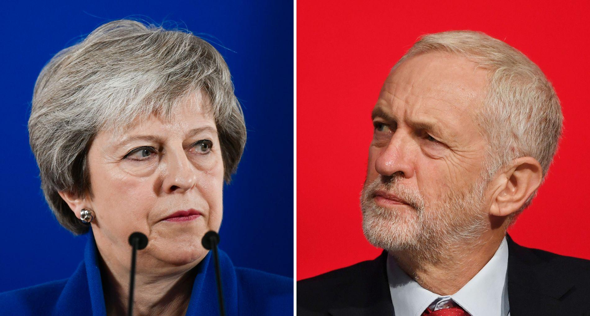 BER OM KOMPROMISS: Theresa May ber Labour-leder Jeremy Corbyn om å støtte den nye brexit-avtalen.
