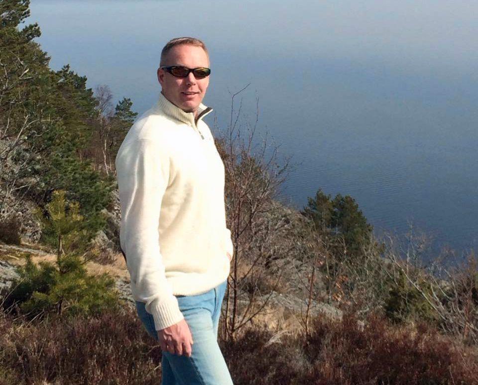 DREPT: Frode Sanni (42) ble drept på Maxbo på Notodden i fjor.