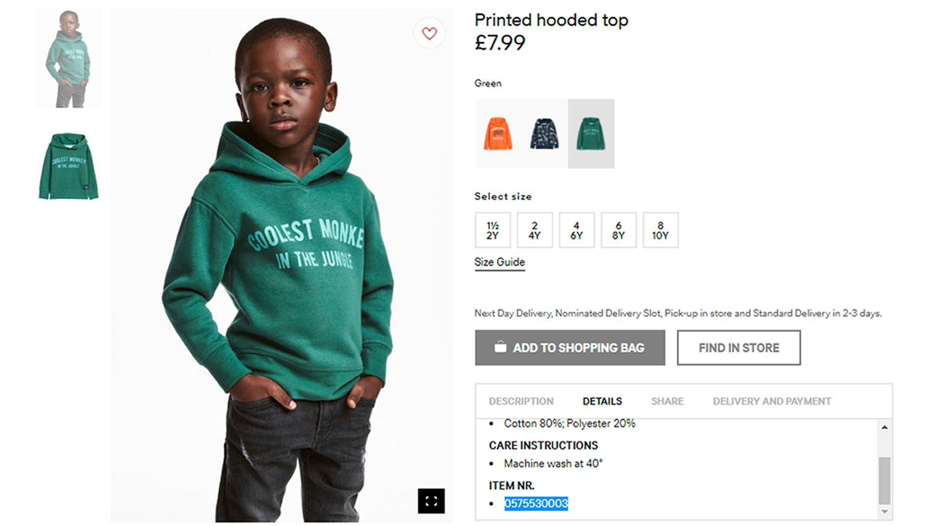 OMSTRIDT: Denne H&M-annonsen har ført til anklager om skjult rasisme og utløst protester verden over.