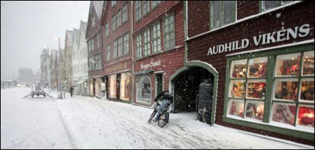 FORURENSET LUFT: Bergen har dårligere luftkvalitet enn noen andre byer i Europa, ifølge nye målinger. Foto: BJØRN ERIK LARSEN