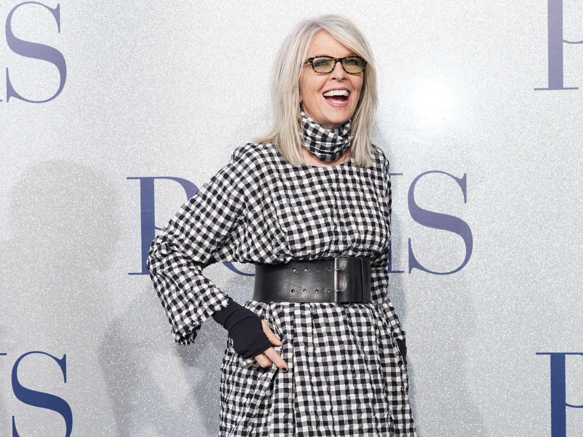 SINGEL HELE LIVET: 73 år gamle Diane Keaton sier at hun tror hun er den eneste kvinnen i sin generasjon som har vært singel hele livet.