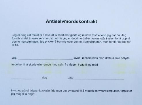 OMSTRIDT: Antiselvmordskontrakter.