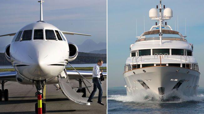 FIT FOR FLIGHT: Bjørn Rune Gjelsten prøver å selge sitt privatfly, Falcon 900 EX. Luksusyachten Zita, som var oppkalt etter milliardærens hund, ble solgt for kort tid siden.