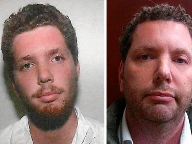 25 ÅR SKILLER BILDENE: Paul Jackson ble pågrepet og siktet for voldtekt og kidnapping i 1990, året bildet til venstre er tatt. Jackson rømte før dommen falt, og ble funnet i Mexico mandag (bildet til høyre).