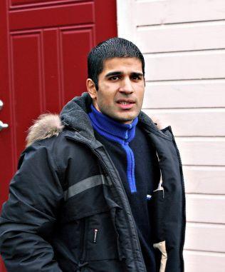 NOKAS-RETTSSAKEN: Her er Imran Saber avbildet da han vitnet i rettssaken etter NOKAS-ranet i Stavanger.