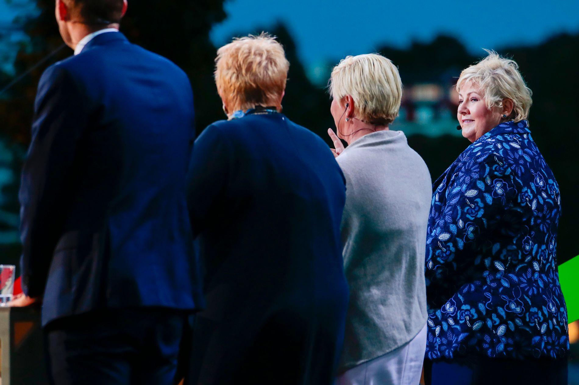 STATSMINISTER: Erna Solberg leder en regjering bestående av Høyre, Frp, Venstre og KrF.