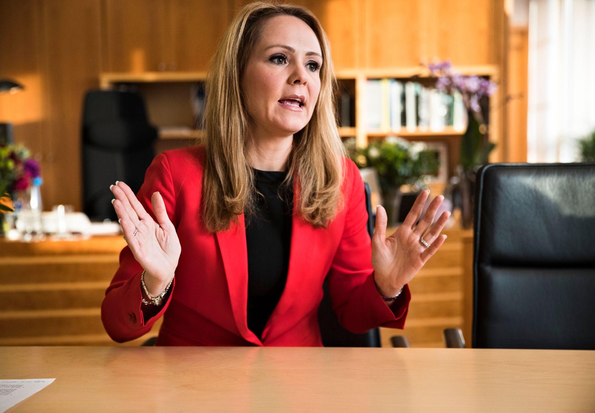 UAKSEPTABELT: Barneminister, Linda Hofstad Helleland (H), reagerer sterkt på funnene i VGs kartlegging.
