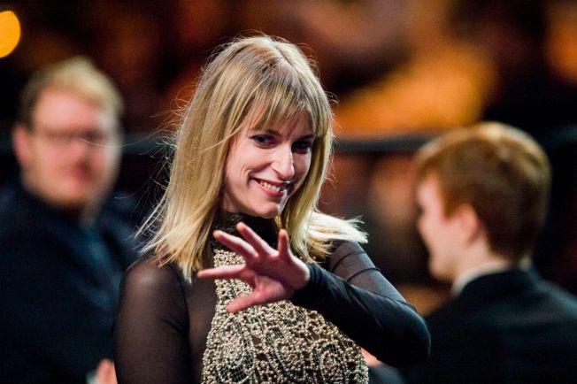 VINNER: Susanne Sundfør under Spellemannprisen i Oslo Spektrum lørdag kveld. Hun er nominert til fire priser, og favoritt til Årets Spellemann.