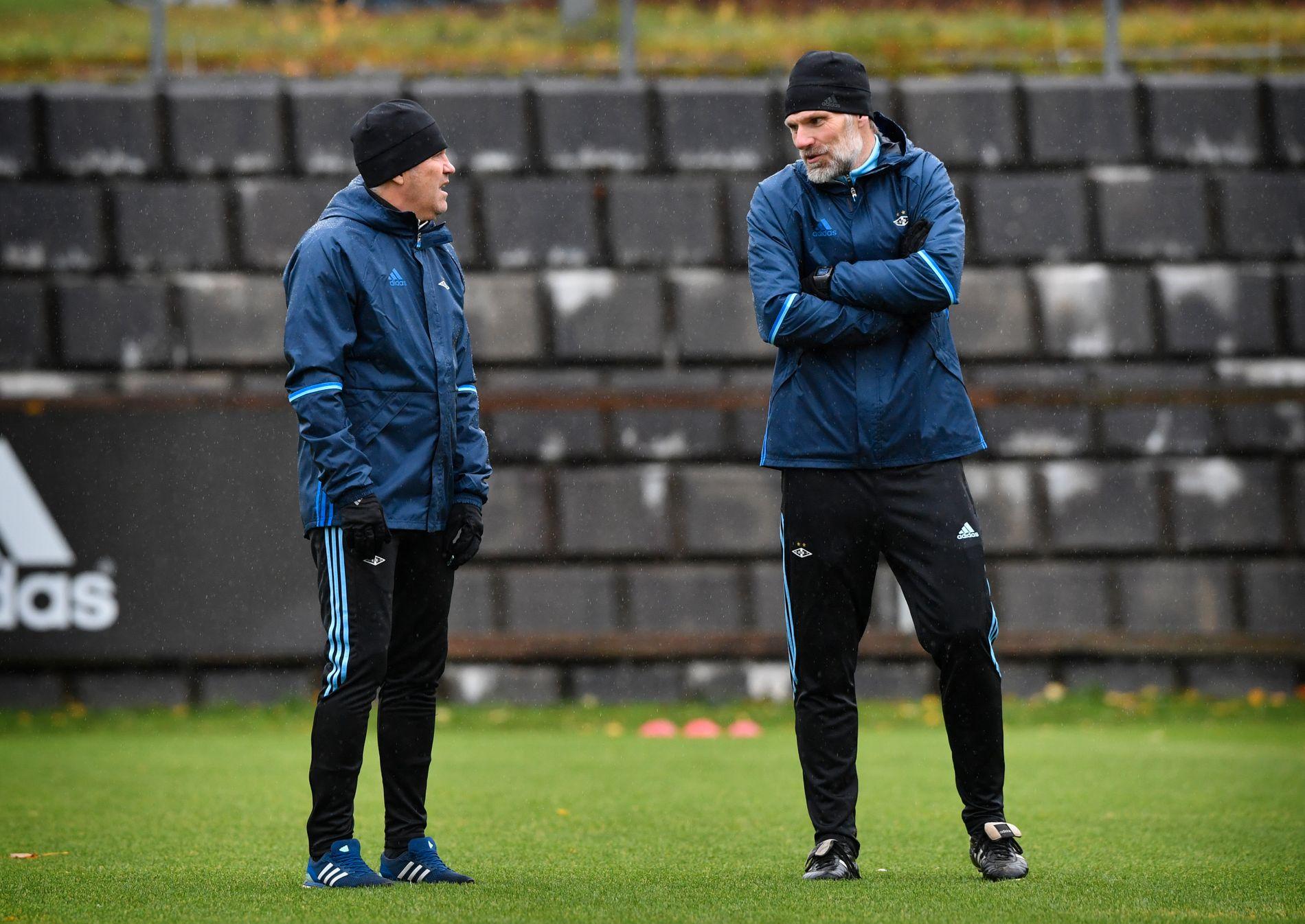 TAKK OG FARVEL: Kåre Ingebrigtsen og Erik Hoftun ble torsdag sparket i RBK. Her fra en tidligere treningsøkt.