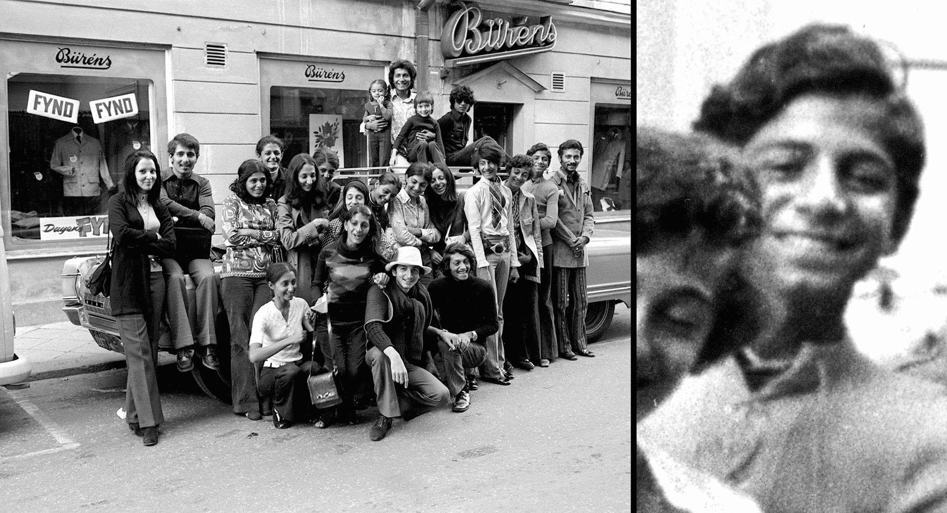 FAMILIETUR: Her er den svært velstående bin Laden-familien på ferie i Falun i Sverige tidlig på 70-tallet. Osama står som nummer to fra høyre.