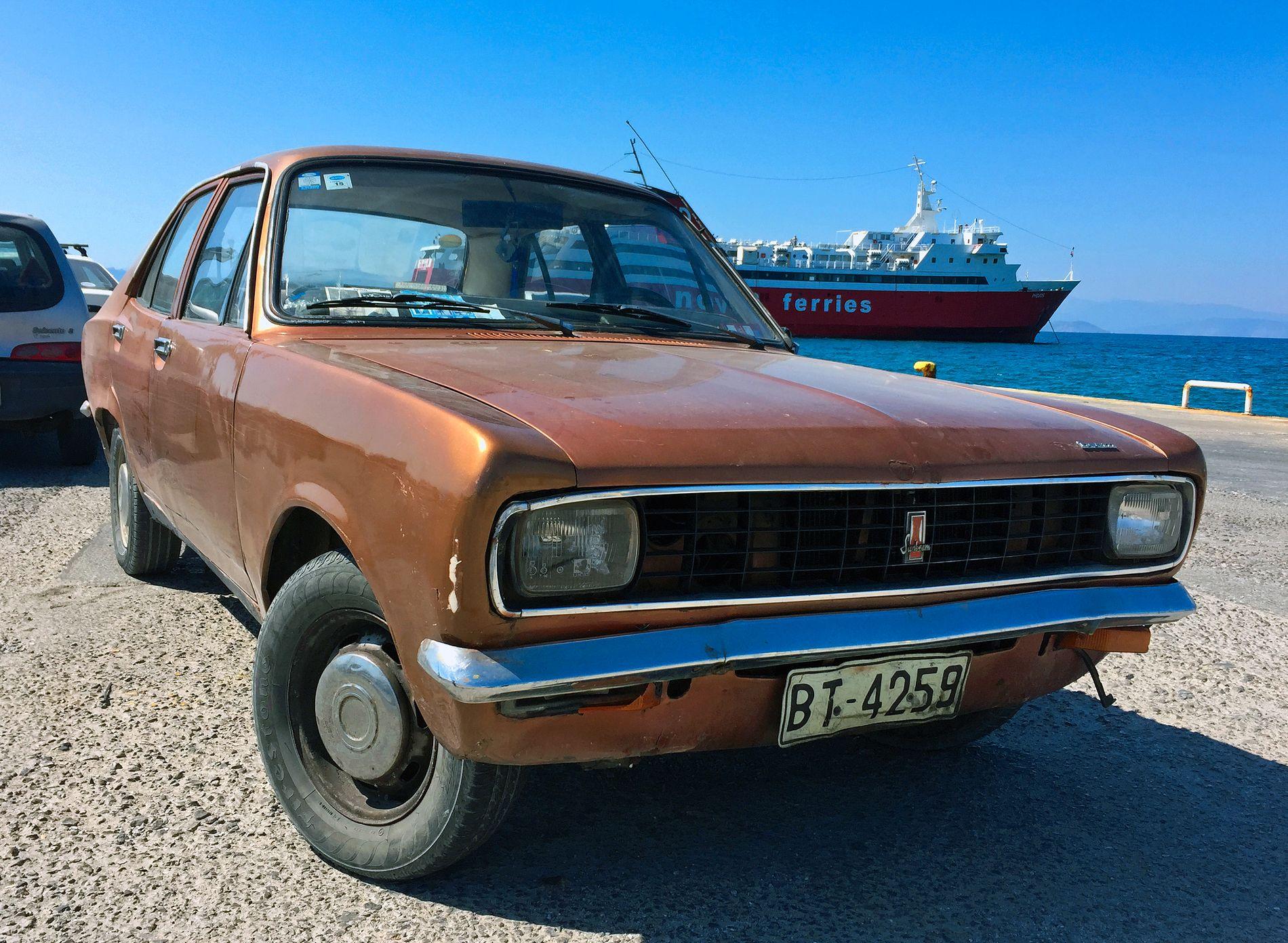 PERIODISK KJØRETØYS: Når var denne greske bilen sist på EU-kontroll, mon tro?