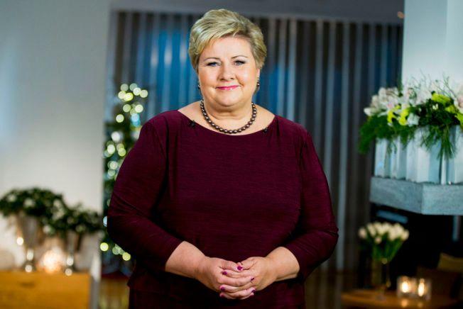 ØNSKER INTEGRERING: Erna Solberg oppfordret i sin nyttårstale alle nordmenn til å bedrive det hun kalte for hverdagsintegrering.