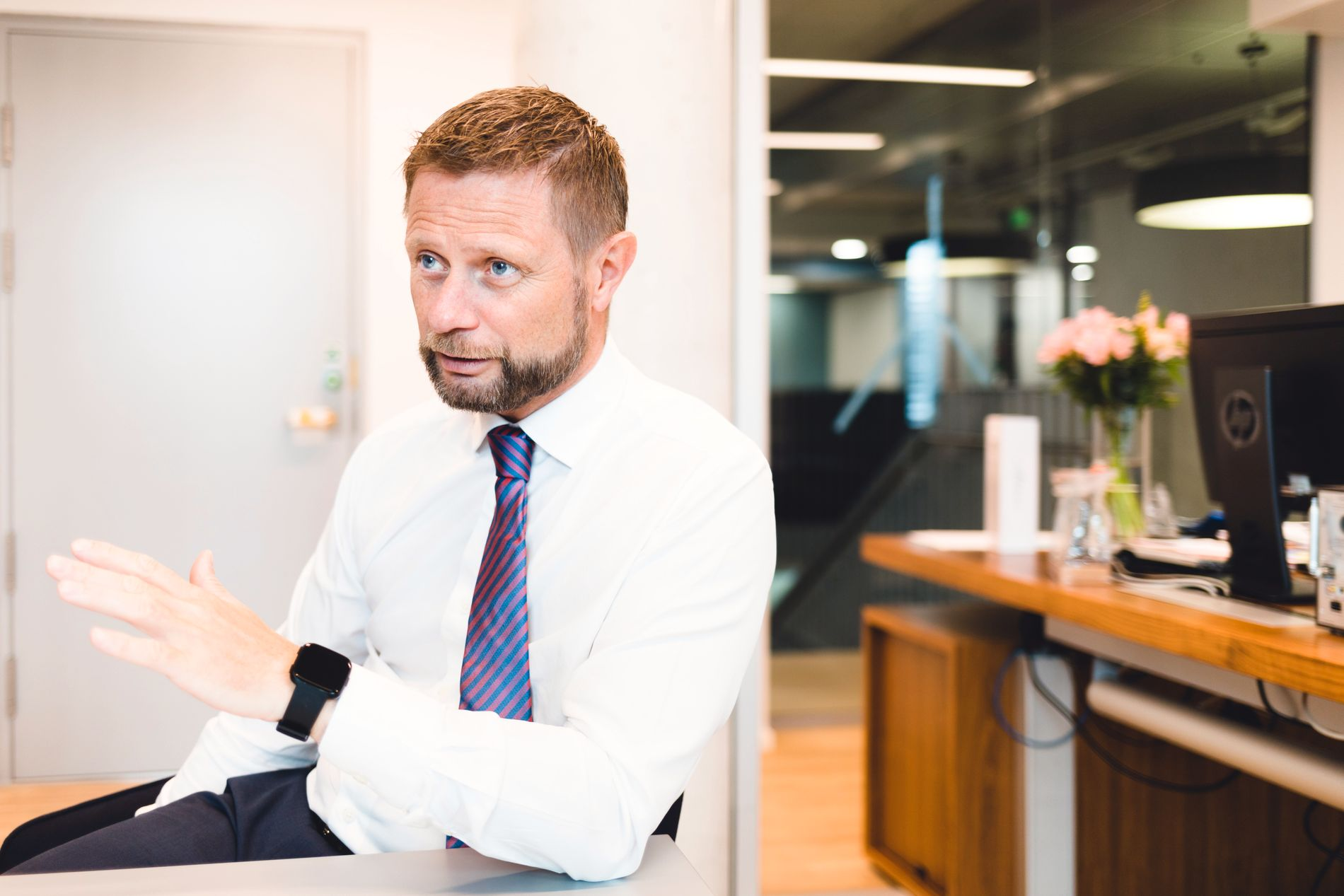 – BEHOV FOR NYE SYKEHUSBYGG: Høie mener videre at SVs kamp for Ullevål egentlig blir til en kamp som går mot et nytt sykehus på Aker.