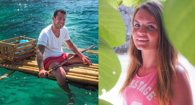 FORELSKET: Jonas Myrvold (29) og Sandra Hauge (23) var begge med i TVNorges «Adam søker Eva», men de var ikke på Filippinene samtidig.