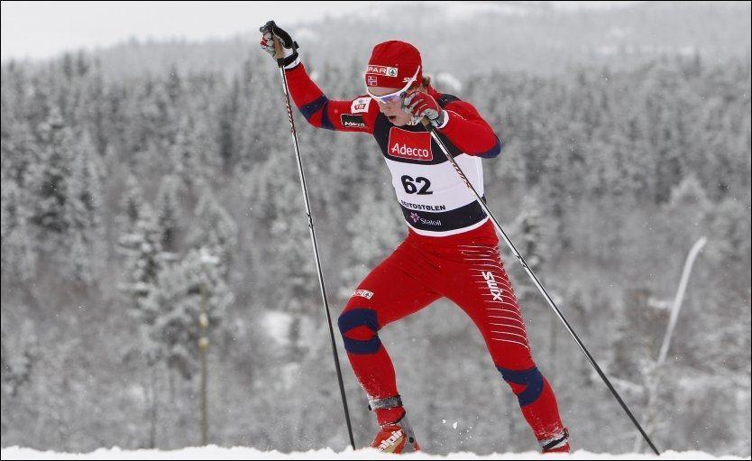 SUPERSPURT: Sindre Bjørnestad Skar reddet det norske gullet i stafetten i junior-VM. Foto: Scanpix
