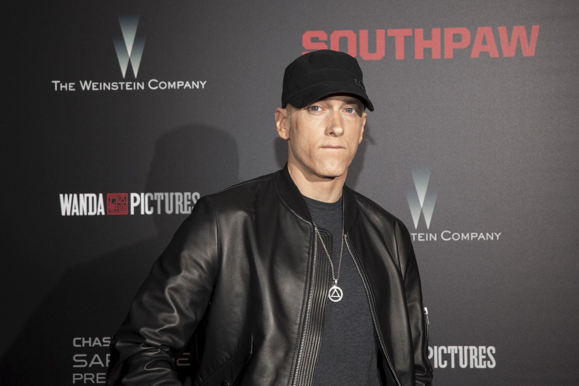 PLATEAKTUELL: Eminem, her på en filmpremiere i New York for en tid siden.