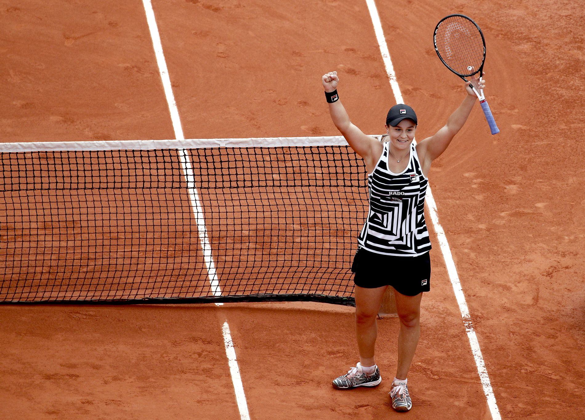 HURRA: Ashleigh Barty vant kjapt og enkelt French Open lørdag ettermiddag. Hun beseiret Marketa Vondrousova.